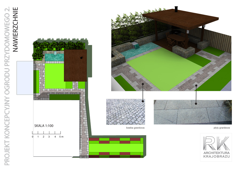 Ogród w Anglii. Projekt- R.K. Architektura Krajobrazu Lublin