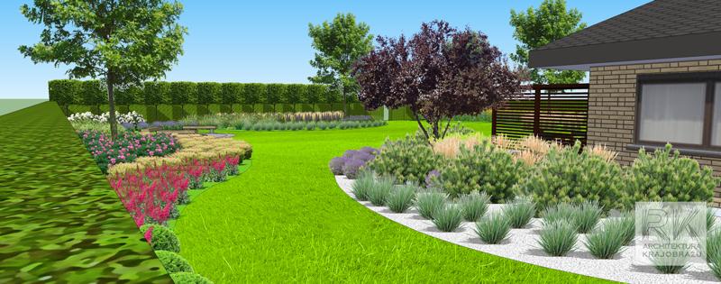 Swobodny układ nasadzeń w ogrodzie